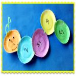Caterpillar Counting Math Craft! Here's a counting math craft for