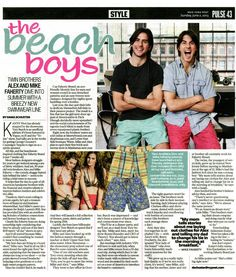 Mike and Alex Faherty in the New York Post
