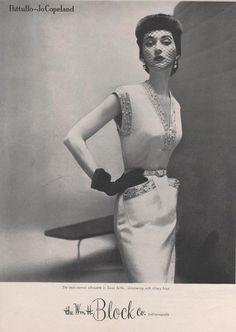 Dovima in Patullo-Jo Copeland for the William H. Block Co. in Indianapolis-Fall 1950