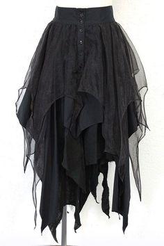Multilayer dress from a lovely Gothic Lolita shop in Japan. - www.closetchildon... - alice auaa > スカート - alice auaa / レイヤードスカート (アリス アウアア) - ゴスロリ古着販売専門 ClosetChild
