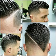 V cut #vcut #trendymenshair #fade Visit: http://Jatai.net for beauty and barber…