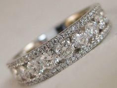 MODERN 1.26CTW DIAMOND RIGHT HAND RING 14KT W GOLD WEDDING CLUSTER BAND 4.331218 | eBay
