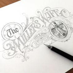 The Miller's Wife ✍ work in progress- The Miller's Wife ✍ work in progre. The Miller's Wife ✍ work in progress- The Miller's Wife ✍ work in progress The Miller's Wife ✍ work in progress - Types Of Lettering, Script Lettering, Lettering Styles, Graffiti Lettering, Typography Letters, Lettering Design, Creative Typography, Vintage Typography, Typographie Inspiration