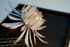 Resin Flower Kanzashi Floral Hair Accessory By