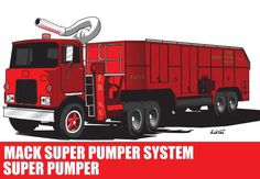 Mack Super Pumper System Fire Engine Ver.2 Free Vehicle Paper Model Download