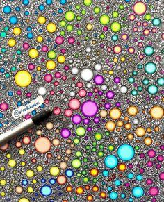 Ideas Drawing Doodles Zentangle Patterns Circles For 2020 Dibujos Zentangle Art, Zentangle Drawings, Doodles Zentangles, Zentangle Patterns, Doodle Drawings, Doodle Art, Zen Doodle, Flower Drawings, Drawing Flowers