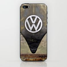 VW Indestructable iPhone & iPod Skin by Alice Gosling - $15.00  Skins for iPhones and iPods.  #skins #iPhone #iPod #VW #Volkswagen #camper #bus #vintage #rust