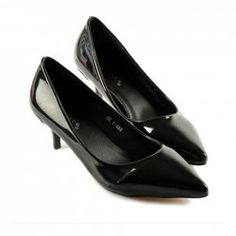 $18.86 Concise Women's Patent Leather Pumps With Solid Color and Pointed Toe Design
