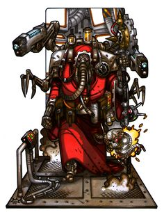 MiniCharacters - Tech-priest by NicolasRGiacondino on DeviantArt Geek Culture, Saga, Warhammer 40k Rpg, Necron, Fandoms, Game Workshop, Artwork Display, The Grim, Space Marine