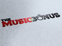 "Estudio de Logotipo ""Music Bonus"""