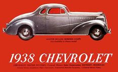 1938 Chevrolet Master DeLuxe Business Coupe - Promotional Advertising Poster