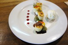 Banana Crepes with Vanilla Ice Cream served at The Open House Restaurant Bali