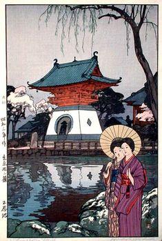 Shinobazu Pond by Hiroshi Yoshida, 1928