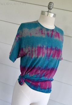WobiSobi: Tie Dye, Striped Tee: DIY