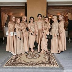 Hijab Prom Dress, Dress Brukat, Hijab Style Dress, Hijab Wedding Dresses, Hijab Bride, Long Bridesmaid Dresses, The Dress, Wedding Abaya, Bridesmaids