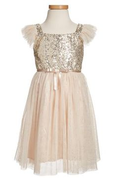 ca6e9f964 Main Image - Popatu Sequin Bodice Tulle Dress (Toddler Girls, Little Girls  & Big Girls)