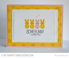 BB Somebunny, Polkadot Background, Candy Jars Die-namics, Stitched Rectangle STAX Die-namics - Teri Anderson #mftstamps