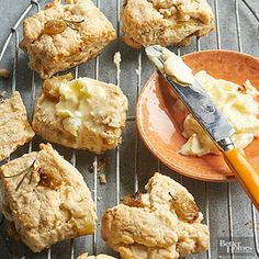 Roasted Grape and Rosemary Scones Roasting grapes caramelizes the natural sugars. They are like raisins that are fresher, juicier, and bursting with savory sweetness.
