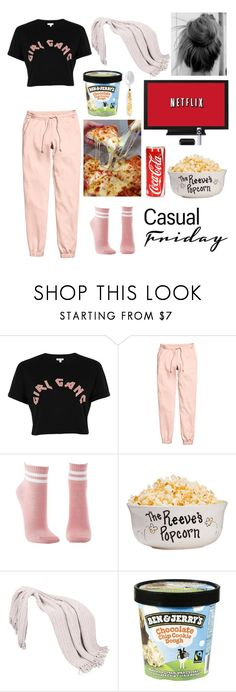 """""""Sweatpants #2 - Netflix Marathon"""" by withingalaxy ❤ liked on Polyvore featuring River Island, H&M and Charlotte Russe"""