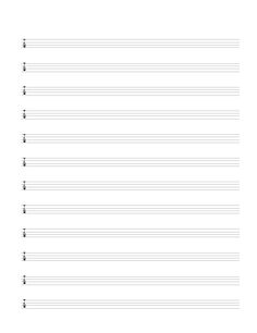Modest image inside printable tablature paper