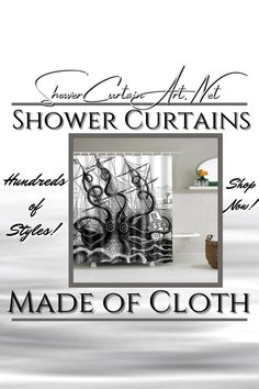 Drastically enhance your bathroom decor with a soft & stylish fabric shower curtain from Shower Curtain Art. Nautical Shower Curtains, Shower Curtain Art, Cool Shower Curtains, Man Cave Bathroom, Downstairs Bathroom, Shower Accessories, Small Bathroom Storage, Modern Bathroom Design, Bathroom Fixtures