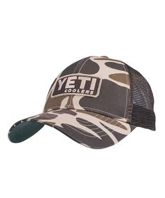 This custom camo hat from Yeti is a must-have for anyone who loves Yeti coolers, apparel and gear!