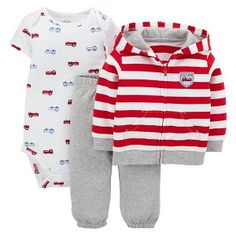 Just One You™Made by Carter's® Newborn Boys' 3 Piece Fire Truck Set - Red/Grey Target Baby, Future Boy, Rainbow Baby, Newborn Boys, Red And Grey, Fire Trucks, Baby Boy Outfits, Boy Fashion, Baby Kids