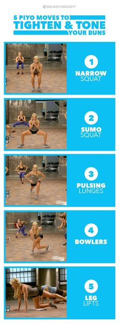 This is the butt workout you've been looking for. These 5 easy moves will tighten your booty in no time. Read on to find out why it works. butt workouts // PiYo // Chalene Johnson // toned butt // bes (Beachbody Fitness Tips) Weight Training Workouts, Toning Workouts, Easy Workouts, Fitness Workouts, Glute Exercises At Home, Lower Body Workouts, Fitness Goals, Body Weight Exercises, Body Weight Leg Workout