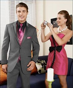 Prom Tuxedo Rental in Indianapolis | Pink dress, Light pink ...