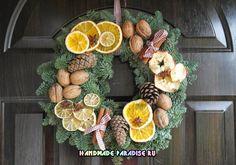 Рождественские венки из природных материалов