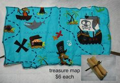 Pirate Map Felt Embroidery Design File on Etsy, $3.70 CAD