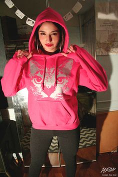 black friday etsy, cyber monday etsy, pink cat hoodie, cat clothing, spring etsy, fuchsia cat hoodie, heliconia, cat sweatshirt, cat pullover hoodie, 1AEON