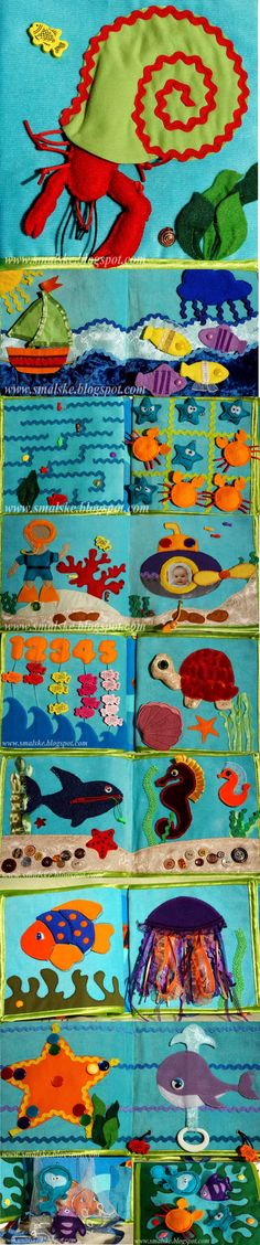 Quiet Book Under The Sea - via What is Olga Doing? - http://www.smalske.blogspot.ca/search/label/quiet%20book