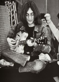 John lennon at The Rolling Stones' Rock & Roll Circus (1968)