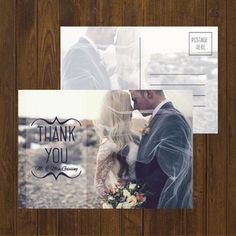 Great idea! Wedding postcards as Thank you notes.