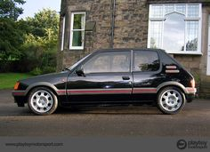 This one I bought myself.  Peugeot 205 GTI