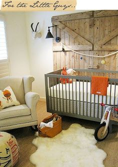"If I have boys, it's still a little boys room but neutral enough so they can turn it into a ""man's"" room when they grow older"