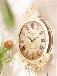 Antique White Vintage Paris Hotel Pendulum Wall Clock