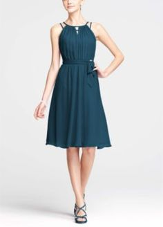 Peacock Blue Bridesmaid Dresses by Color by Davids Bridal