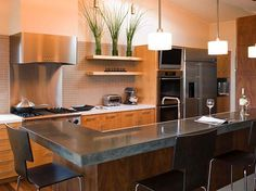 Supreme Kitchen Remodeling Choosing Your New Kitchen Countertops Ideas. Mind Blowing Kitchen Remodeling Choosing Your New Kitchen Countertops Ideas. Kitchen Bar Counter, Kitchen And Bath, New Kitchen, Wooden Counter, Studio Kitchen, Awesome Kitchen, Kitchen Small, Counter Top, Kitchen Island