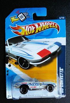 2565b0adf6 2012 Hot Wheels  65 Corvette Col.  166 (White Version) in Toys