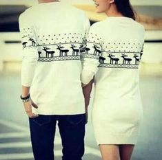christmas sweater matching couples <3 <3 cute