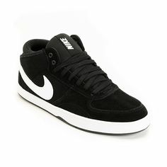The Nike Mavrk Mid 3 is a great all around shoe for skating, bmx riding, or for just looking fresh. With a mid profile, suede upper and Nike custom stitching throughout the Mavrk Mid provides massive amounts of style and an equally overwhelming amount of durability. The white Nike Swoosh stands out in front of the black suede upper and is further extenuated by the white outsole. The neoprene at the heel makes for easy entry so you don't have to mess up the achilles section of your ankle and…