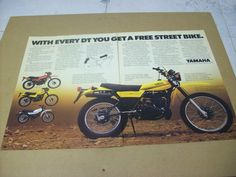 1979 Yamaha DT100 DT125 DT175 DT250 Motorcycle Advertisement Vintage Ad | eBay