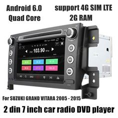 For SUZUKI GRAND VITARA 2005-2015 Car DVD GPS Navigation Player support rear camera touch screen  -- More info could be found at the image url. #CarElectronic