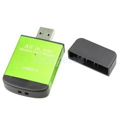 4in1 Usb2.0 Smart Card Reader Flash Multi Cards Sd/tf/sdhc Memory Adapter #3 China 1 Universal Plastic Green