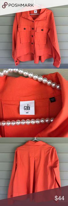 CAbi Resort Jacket Tiger Lily Orange Style# 5098 Great condition CAbi Resort Jacket.  Style# 5098.  Color: Tiger Lily Orange.  Size: medium.  Jacket is longer in the back.  Very cute! CAbi Jackets & Coats