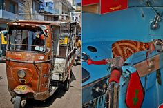 "Auto rickshaw from the ""Blue City"" of Jodhpur, India"