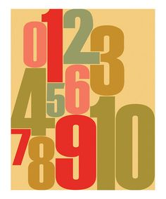 Take a look at this Numbers Print by Parada Creations on #zulily today!