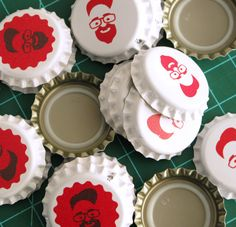 Custom Beer or SodaBottle Caps -  Printed and Personalized - Homebrew Bottling Supplies - 100 qty.